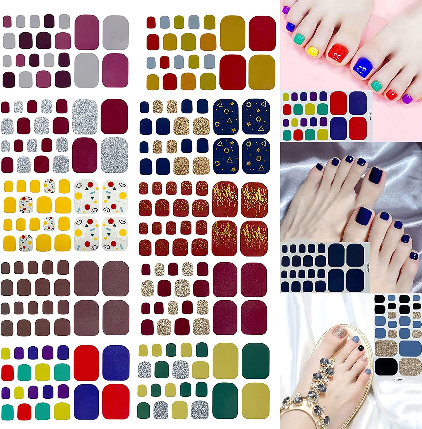 JHKUNO Foot Nail Stickers Outlet SALE Free Shipping New for Art Waterproof Toenail Wraps