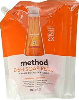 Method Dish Soap Refill, Clementine, 36 Ounce (Pack 2)