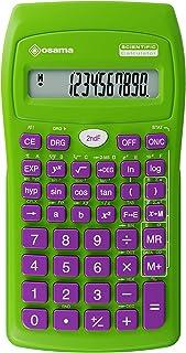 Cikonielf Calcolatrice Portatile a 10 cifre Display LCD Inclinato Calcolatrice di energia Solare Ultra Sottile per uffici Domestici Bianca