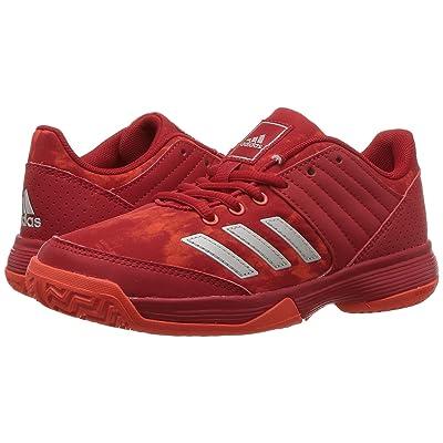 adidas Kids Ligra 5 Volleyball (Little Kid/Big Kid) (Scarlet/Energy/White) Kids Shoes