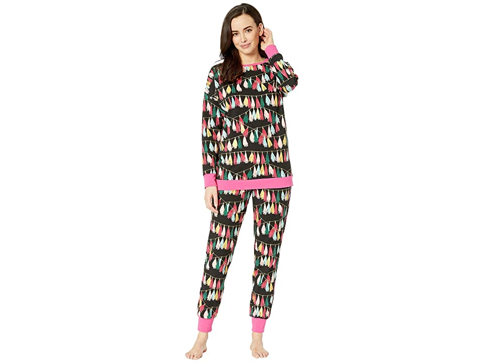 BedHead Long Sleeve Crew Neck Pajama Set (Festive Fringe) Women