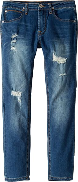 Jude Skinny French Terry Jeans in Blue Steel (Big Kids)