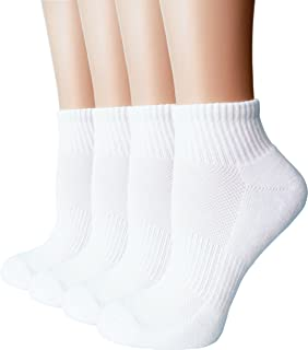 Women's Moisture Wicking Athletic Low Cut Ankle Quarter Cushion Socks