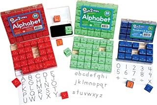 Center Enterprise CE6827 READY2LEARN Combo Visual Closure Alpha and Numbers Stamps, 1