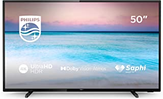 Philips 50PUS6504/12, Smart TV de 126 cm con Tecnología LED, 4K UHD, Pixel Precise Ultra HD, Dolby Vision, Dolby Atmos, Ethernet, 50