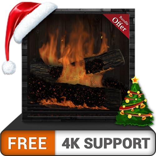 free fireplace burning desire - genieße die winterweihnachtsferien mit warmem schornstein auf deinem hdr 8k 4k fernseher und feuergeräten als hintergrundbild und thema für mediation und frieden