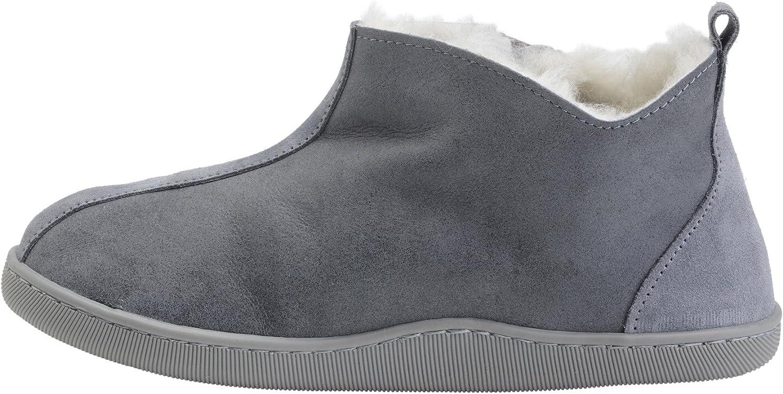 Vogar herr herr herr kvinnor Genuine Sheepsky läder Boot Slippers Fully Wol Lined B001  skön