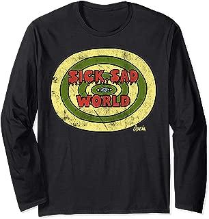 Sick Sad World Drippy Text Eye Logo Long Sleeve T-Shirt