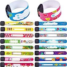 36 Pieces Anti Lost ID Wristband Children Safety ID Wristband Reusable Identification Bracelets Adjustable Waterproof ID B...