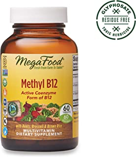 MegaFood, Methyl B12, Helps Maintain a Healthy Heart and Homocysteine Levels, Multivitamin Supplement, Gluten Free, Vegan, 60 Tablets (60 Servings)