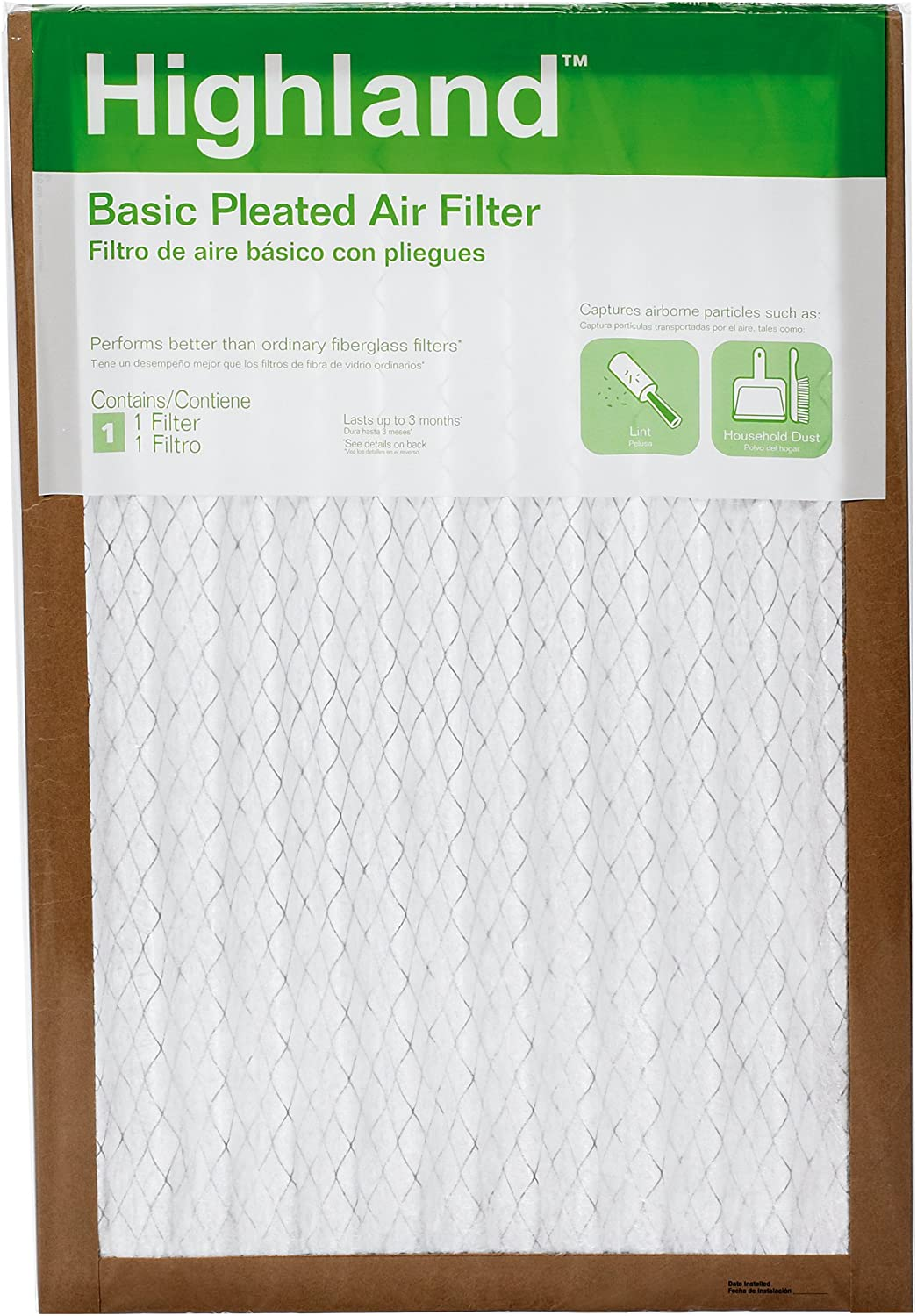 3M FBA25DC-6 Highland Fashion OFFicial site Trade Basic Pleated Air Filter 16