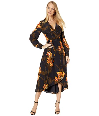 Ted Baker Stela Caramel Printed Wrap Dress (Black) Women