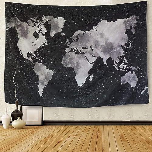 Cortina de ducha cortina de mapa del mundo  the world 180x200cm dimensiones incluyendo 12 anillos Leguana