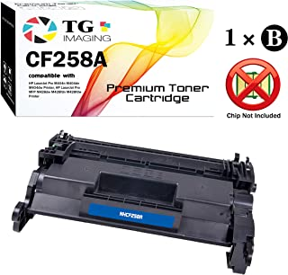 (1-Pack) TG Imaging Compatible 58A CF258A Toner Cartridge for use in Laserjet Pro M404 M428 Printers (Chip not Included)