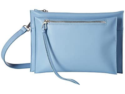Sam Edelman Maisie Passport Crossbody (Cornflower Blue Leather) Handbags