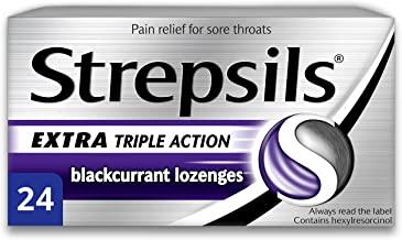 Strepsils Extra Triple Action Blackcurrant Lozenges