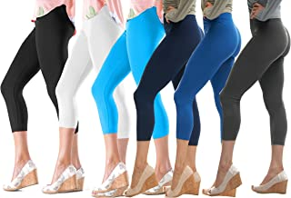   Lush Moda   Seamless Capri Leggings   Variety of Colors   One Size