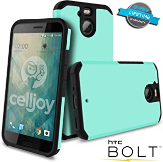 Celljoy Case compatible withHTC Bolt, HTC 10 EVO model [[Will NOT FIT HTC 10]] [Liquid Armor] [Dual Layer] Protective Hybrid [[Shockproof]] - Thin Hard Shell/Soft TPU Skin - Matte (Metallic Teal)