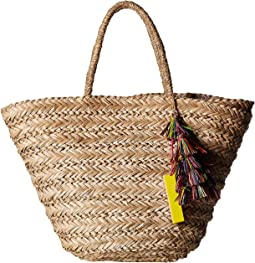 b9c6c47308451 Perfect Beach Tote with Long Pom Strand Trim