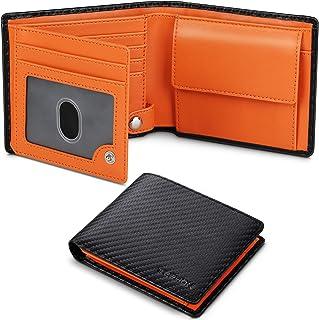 TEEHON® Portefeuille Homme en Cuir Véritable Porte-Monnaie avec Blocage RFID/NFC 9 Porte Carte Crédit, 2 Compartiment à Bi...