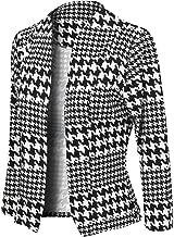 Best black and white collarless blazer Reviews