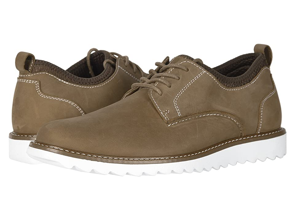 Dockers Fleming Leather Smart Series Dress Casual Oxford (Tan Crazy Horse) Men