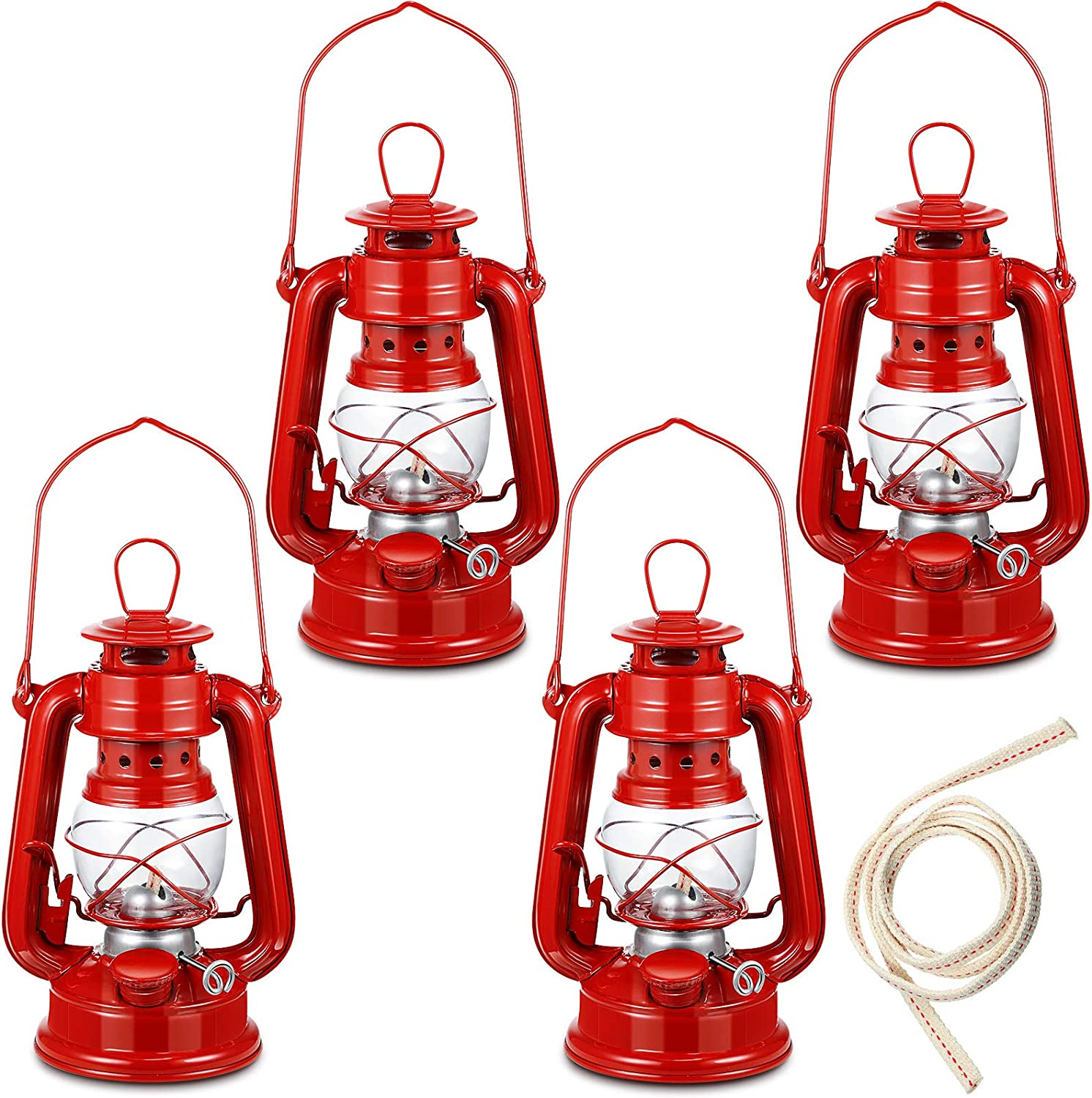 4 Pieces Small Hurricane Lantern Oil Max 54% OFF Lamp Inch Selling and selling 8 Hanging Kerosen