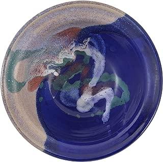 Larrabee Ceramics Small Salad Bowl, Mauve/Cobalt