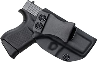 Foleto Glock Holster, IWB KYDEX Holster - Inside Waistband Concealed Carry Holster| Adjustable Cant & Retention - Right Hand
