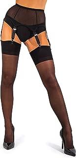 sofsy Mesh Garter Belt with Straps for Stockings/Lingerie (Garter Belt Sold Separately from Stockings)