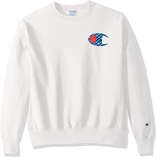قميص رياضي رجالي من Champion LIFE بنسيج عكسي عليه شعار c أبيض / SUBLIMATED ، مقاس متوسط