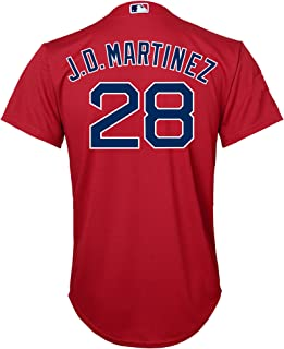 J.D. Martinez Boston Red Sox Red Youth Cool Base Alternate Replica Jersey