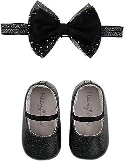 Rising Star Baby Girls Gitter Shoes and Headband Gift Set