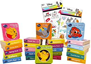 Disney Animal Alphabet Story Book Collection Bundle Disney Board Book Set ~ 24 Pack Disney My First Library Mini Block Boo...