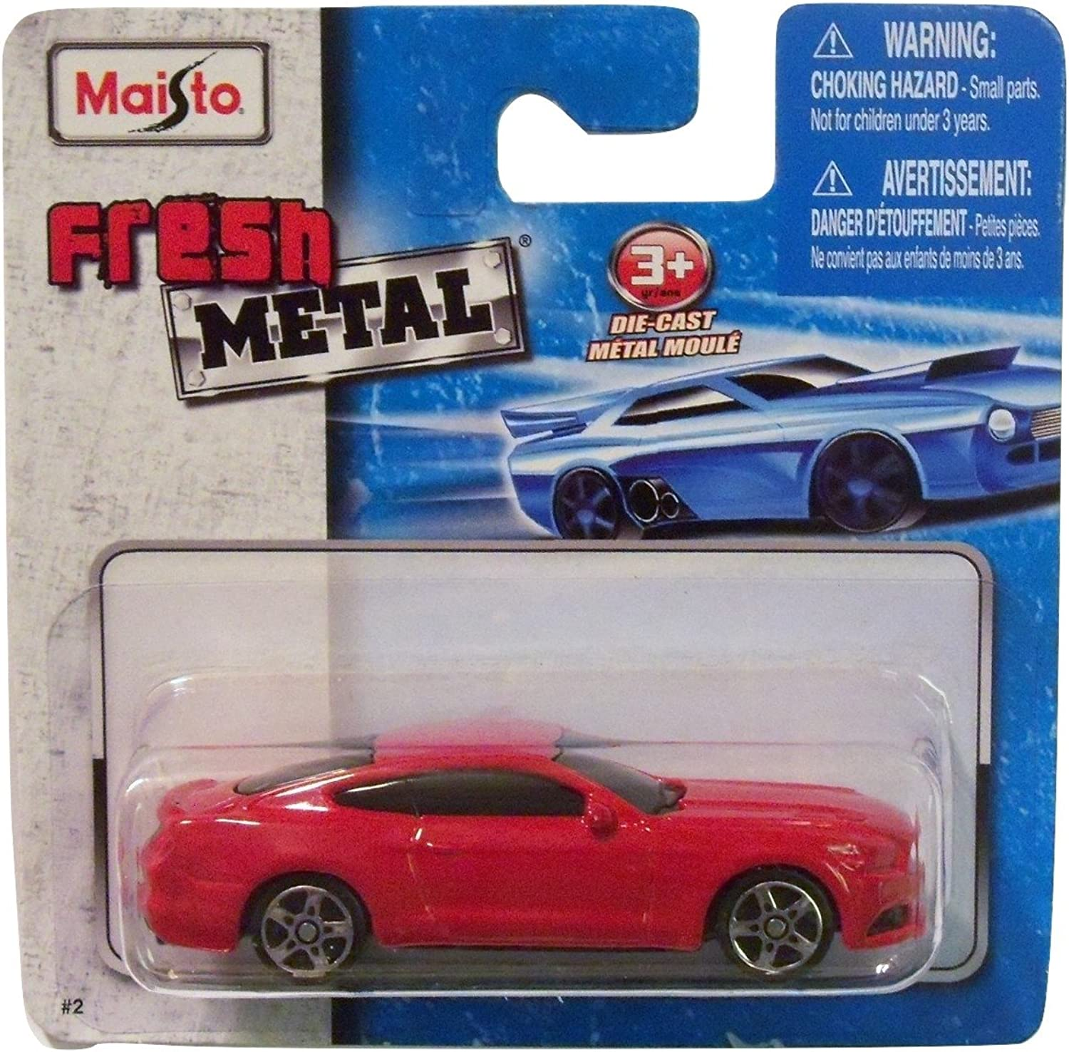 Maisto Fresh Metal Die-Cast Vehicles  2015 Ford Mustang GT (Red) by Maisto Fresh Metal