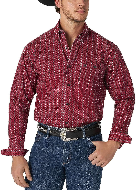 Wrangler Mens Classic Red Print Shirt