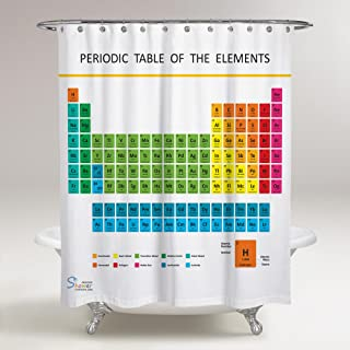 Amazing Shower Curtains - Updated 2019 Periodic Table of Elements Shower Curtain 70x70 by Segmia