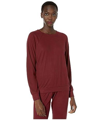 Eberjey Mina The Ringer Sweatshirt (Port) Women