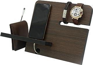 Organizador para celular buro y escritorio - regalo para hombre - estación de carga - regalo de cumpleaños - regalo para p...