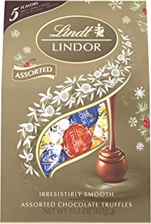 Lindt Lindor Holiday Assorted Chocolate Bag, Great for Holiday Gifting, 15.2 Ounce (Pack of 8)