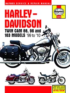 Harley-Davidson Twin Cam 88 covering Softail (00-10), Dyna Glide (99-10), & Electra Glide/Road King & Road Glide (99-10) Haynes Repair Manual (Haynes Service & Repair Manual)