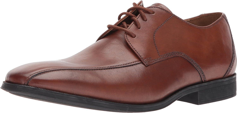 Clarks Mens Gilman Mode shoes, UK  8.5 UK, Dark Tan Leather