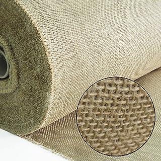 Roban Fashion Jute Stoff Fortlaufend 100 breit natürlicher Stoff meterware Sackleinen für Haus & Garten 100CMX5M