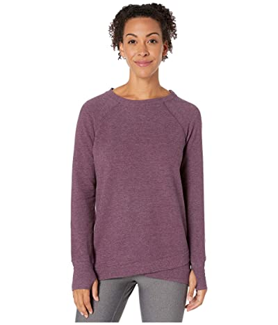 Jockey Active R R Crisscross Fleece Tunic (Burgundy Bliss Heather) Women
