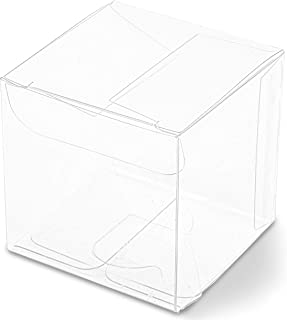 Clear Candy Gift Box, Transparent Boxes for Candy Party Favors (2 In, 100 Pack)