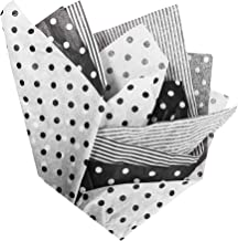 BonBon Paper Black and White Tissue Paper | 36 Sheets of Premium Tissue Paper for Gift Wrapping and Gift Bags | Assorted B...