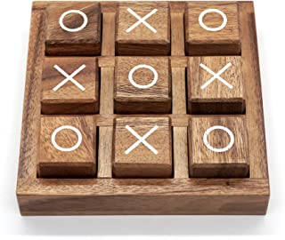 Tic Tac Toe Game for Kids and Family Board Games 3D Travel of Living Room Decor and Coffee Top Table Games Decor Family Ga...