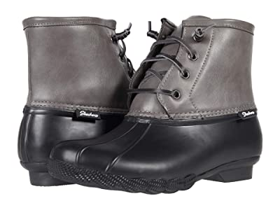 SKECHERS Pond Washed Out (Black/Charcoal) Women