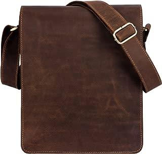 Kattee Vintage Büffelleder Flapover Laptoptasche Messenger Schultertasche