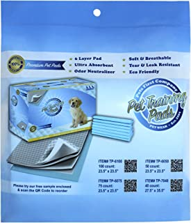 DELUXE TRAINING PADS Sample Newest Version - MOST ABSORBENT Puppy Pads. Latest Tech for DOGGIE PADS
